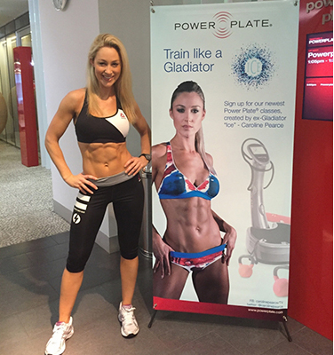 Caroline Pearce's Power Plate 'Gladiator Workout' Classes
