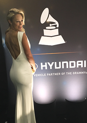 Caroline Pearce at the Grammys in LA