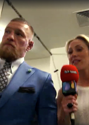 Caroline Pearce interview with Conor McGregor