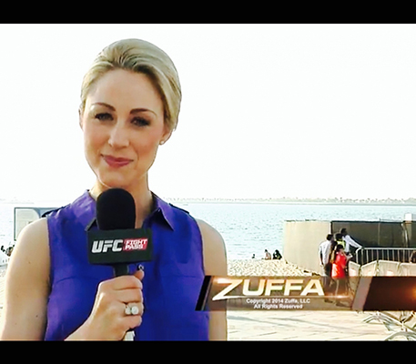 Caroline Pearce as UFC Correspondent for Fight Pass
