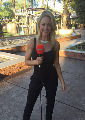 Caroline Pearce press day with UFC World Champion Conor McGregor