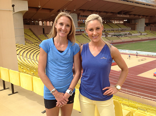 CAROLINE INTERVIEWS PAULA RADCLIFFE IN MONACO