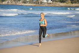 Caroline Pearce Running on the beach
