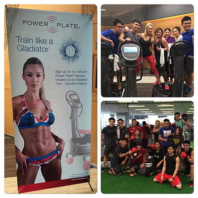 Caroline Pearce launches Power Plate classes in Asia
