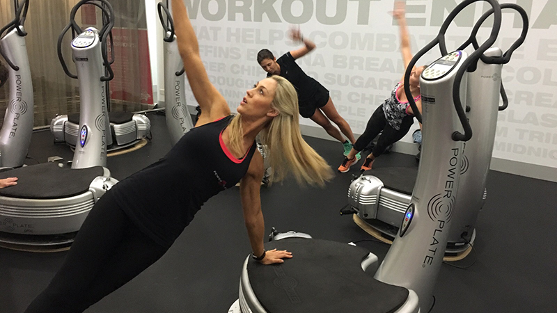 Caroline Pearce Power Plate Work Out