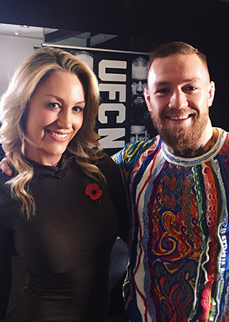 Caroline Pearce and Conor McGregor at UFC205 in New York